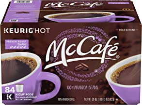 McCafe Premium French Roast Keurig K-Cup Coffee Pods (84 Count Value Pack) | 100% Arabica Beans | Bold & Flavorful, European-Inspired Dark Roast Caffeinated Coffee from McDonald's