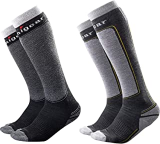 Unigear Ski Socks for Men Women, Merino Wool Warm and Soft Winter Socks for Skiing, Snowboarding Climbing and Cold Weather