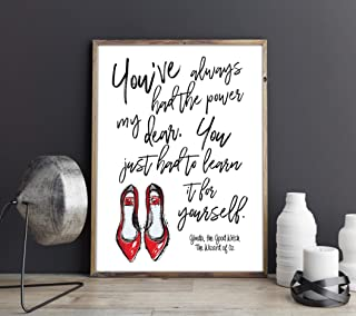Dozili You'Ve Always Had The Power My Dear You Just Had to Learn It for Yourself Glinda The Good Witch The Wizard of Oz Feminist Quote Art Print