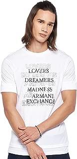 Armani Exchange Men's 3GZTLH T-Shirt, White, Medium
