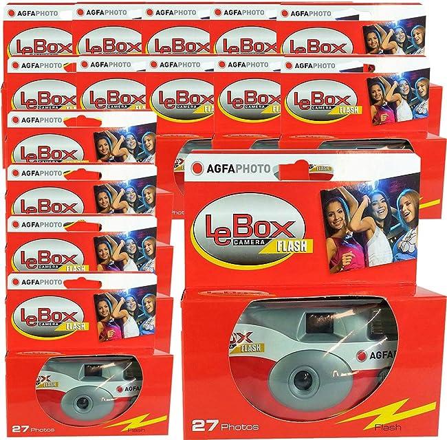 15 x Photo porst desechables Cámara/cámara boda/fiesta Cámara Agfa (27 fotos flash 15 unidades)