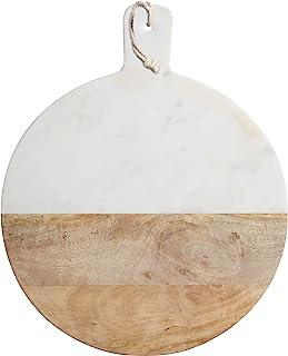 Master Class Redondo de mármol 40,5 x 50 cm/Tabla de Madera de Mango