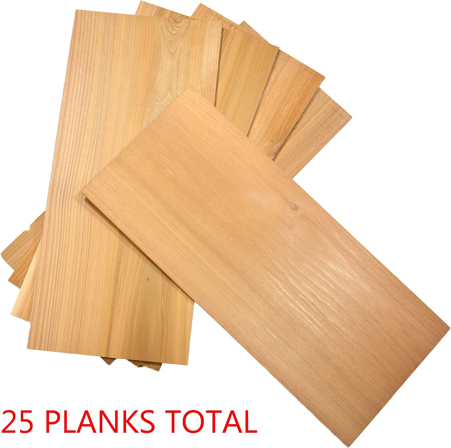 "TrueFire 50-Pack Cedar Grilling Planks 7.25 x 3.5/"" Perfect for The Experienced Plank Grilling Master. Bulk Pack"