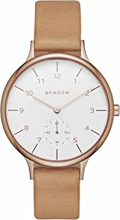 Skagen SKW2405 Ladies Anita Brown Strap Watch