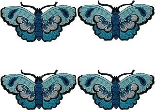 4 Pcs Parches Pegatinas Apliques Bordados Termoadhesivos de Mariposa para Decoración de Ropa Chaquetas Vestidos Cazadoras Vaqueros