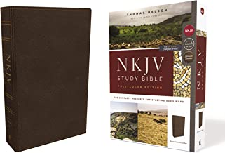 NKJV Study Bible, Premium Calfskin Leather, Brown, Full-Color, Comfort Print: The Complete Resource for Studying God's Word