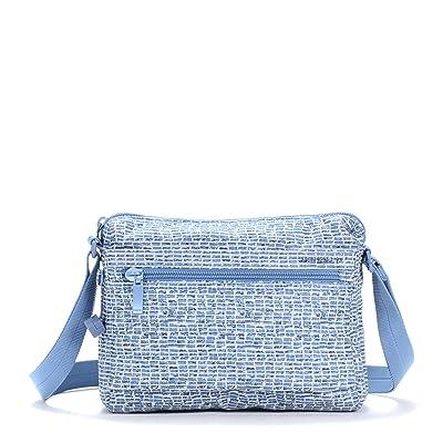 Hedgren Eye RFID Shoulder Bag (Craft Blue Print) Shoulder Handbags