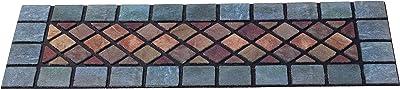 Nicoman Narrow Step Mat Barrier Doormat Eco-Friendly Scrape and Absorbent Indoor/Outdoor Door Mat 75x25cm (30''x10'')