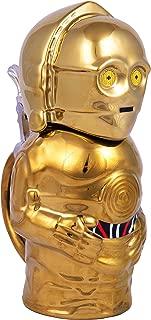 Star Wars C-3PO Beer Stein - Collectible Ceramic Mug with Metal Hinge - 22 oz
