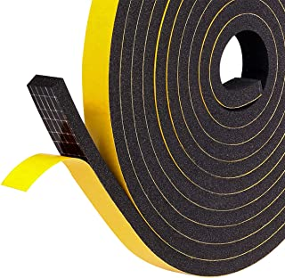 Foam Weather Stripping for Sliding Doors Seal, Soundproofing, Insulation, 1/2