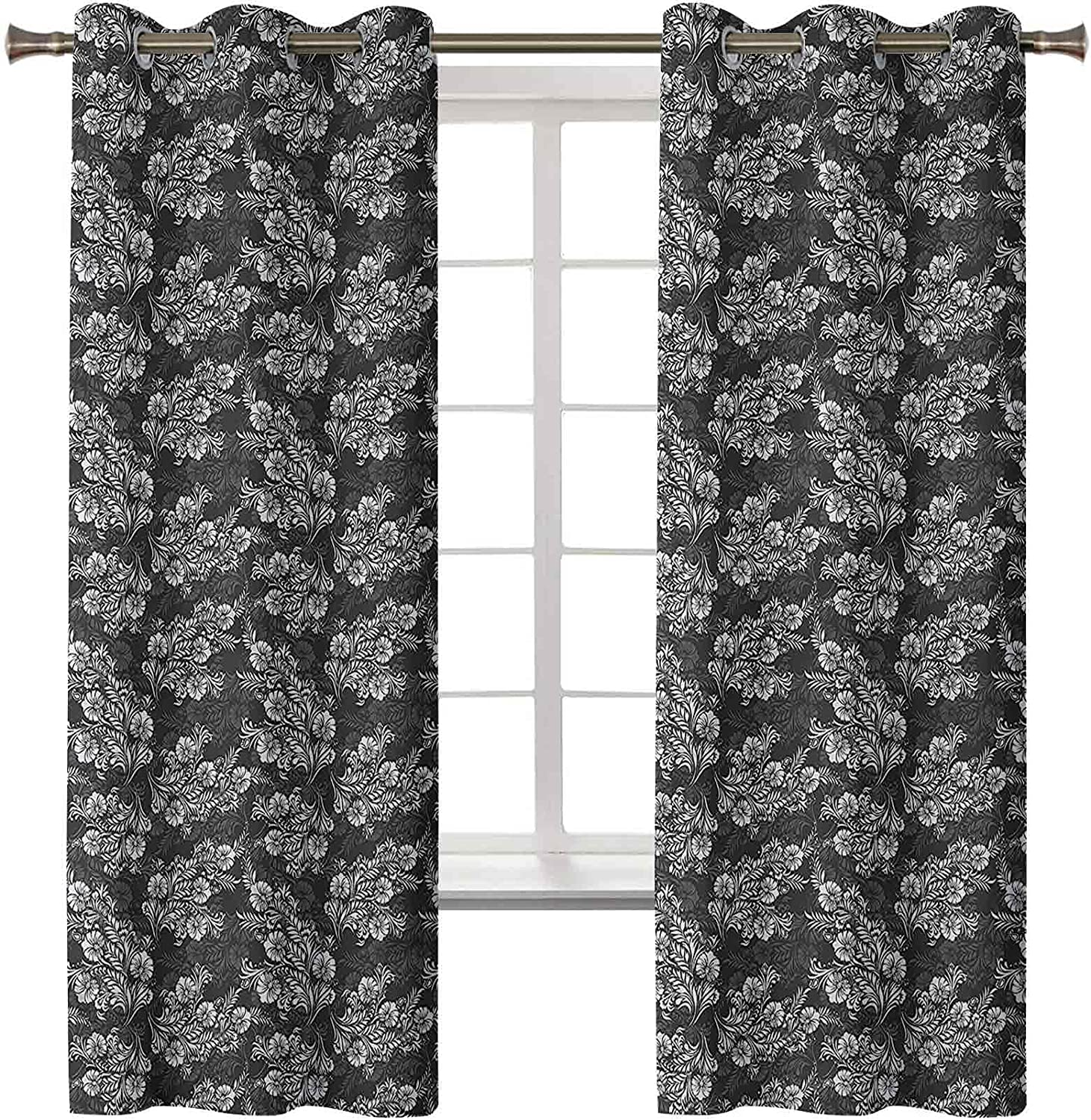 Blackout Curtains Grommet Thermal Bouqu Insulated Damask Flower 67% OFF of fixed Same day shipping price