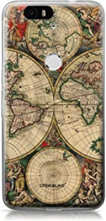 CASEiLIKE Funda Nexus 6P, Carcasa Huawei Google Nexus 6P, Mapa del mundo de la vendimia 4607, TPU Gel silicone protectora cover