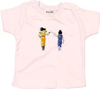 Brand88 Saiyan Fist Bump, Baby T-Shirt