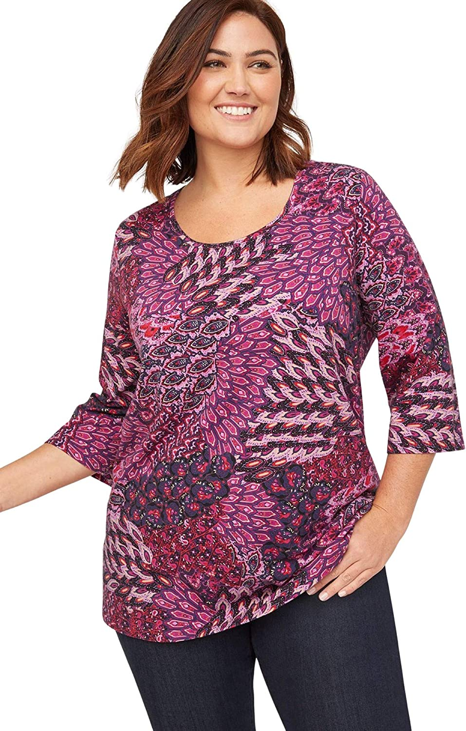 Catherines Women's Plus Size Suprema Feather Together Tee