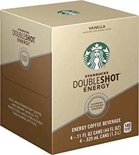 Starbucks, Doubleshot Energy Coffee, Vanilla, 11 fl oz. (4 Pack)