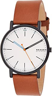Skagen Signatur Men's White Dial Leather Analog Watch - SKW6374