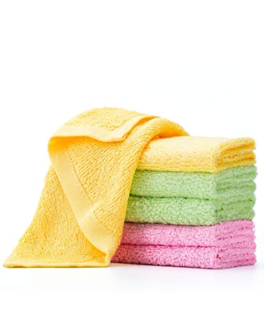 Microfiber Cleaning Cloth- Baby Washcloths - Cleaning Rags - Wash Cloths - Quick Dry - Super