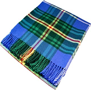 iLuv Nova Scotia Tartan Plaid 100% Lambswool Blanket