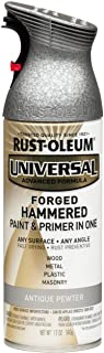 Rust-Oleum, Forged Hammered Antique Pewter 271481 Universal All Surface Spray Paint, 12 oz