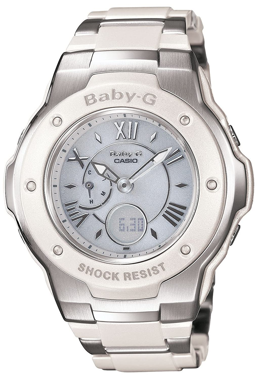 グラディス追放する進化[カシオ] 腕時計 ベビージー 電波ソーラー MSG-3200C-7BJF ホワイト