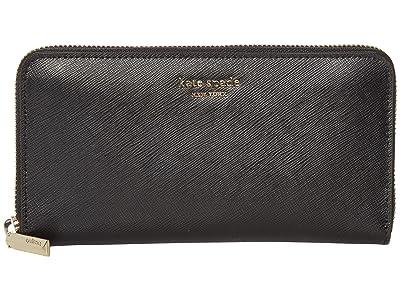 Kate Spade New York Spencer Zip Around Continental Wallet (Black) Wallet