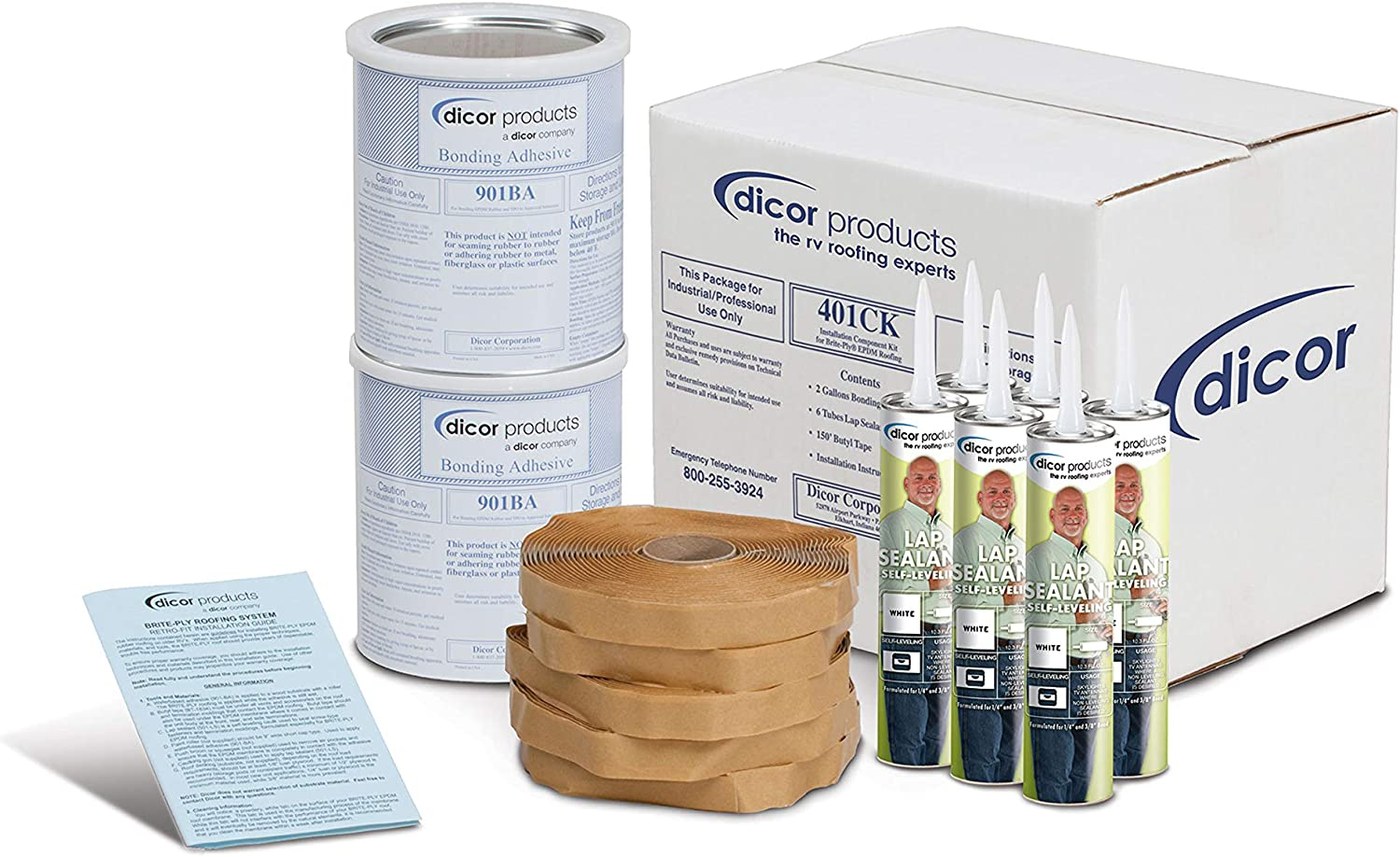Dicor Mail order Max 47% OFF 401CK-G Rubber Kit Roof