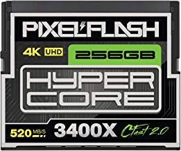 256GB PixelFlash Cfast 2.0 Memory Card 3400X Standard Version for Canon C300, XC10, XC15, Hasselblad, Blackmagic Cinema 4K, Phase One, Leica, and More [2019 Edition]