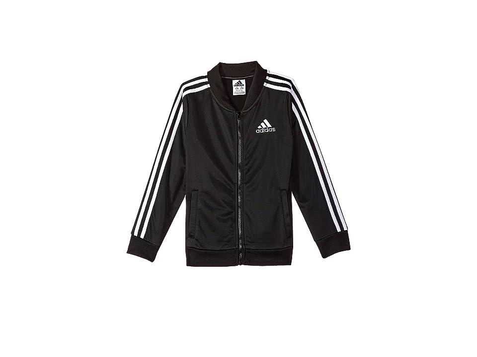adidas Kids YRC Tricot Bomber Jacket (Big Kids) (Black) Girl