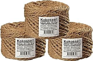 Humusziegel - Kratzbaumseil aus natürlicher Kokosfaser - 3x50 m Kokosseil