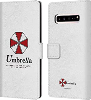 Official Resident Evil Umbrella 2 Logo Leather Book Wallet Case Cover Compatible for Samsung Galaxy S10 5G