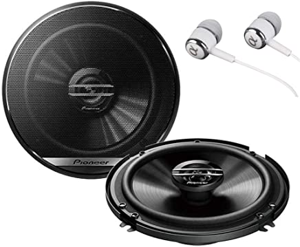 "Pioneer TS-G1620F 600 Watts Max Power 6-1/2"" 2-Way G-Series Coaxial Full Range Car Audio Stereo Speakers / FREE ALPHASONIK EARBUDS"