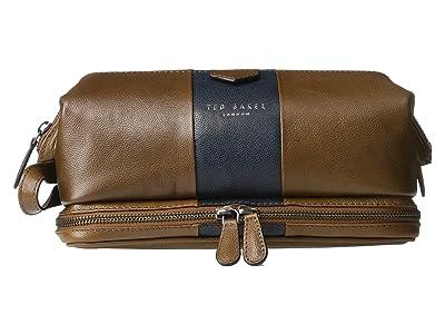 Ted Baker Eyez Striped Leather Washbag (Tan) Wallet
