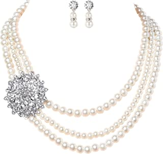 Best vintage bridal pearl necklace Reviews