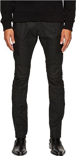 Pierre Balmain - Waxed Biker Jeans