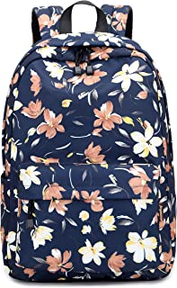 "Joymoze Roomy Stylish Student Backpack 15.6"" Laptop Backpack for Teen Girl Big Flower"