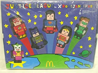 Justice League Korejanairobo McDonalds Happy Meal Toy Box Set with Sticker Sheet - Only Available in China