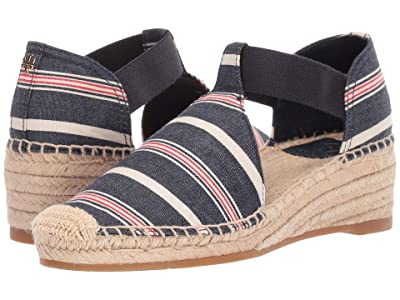 Tory Burch Catalina 3 50mm Espadrille (Navy Multi/Dark Denim) Women