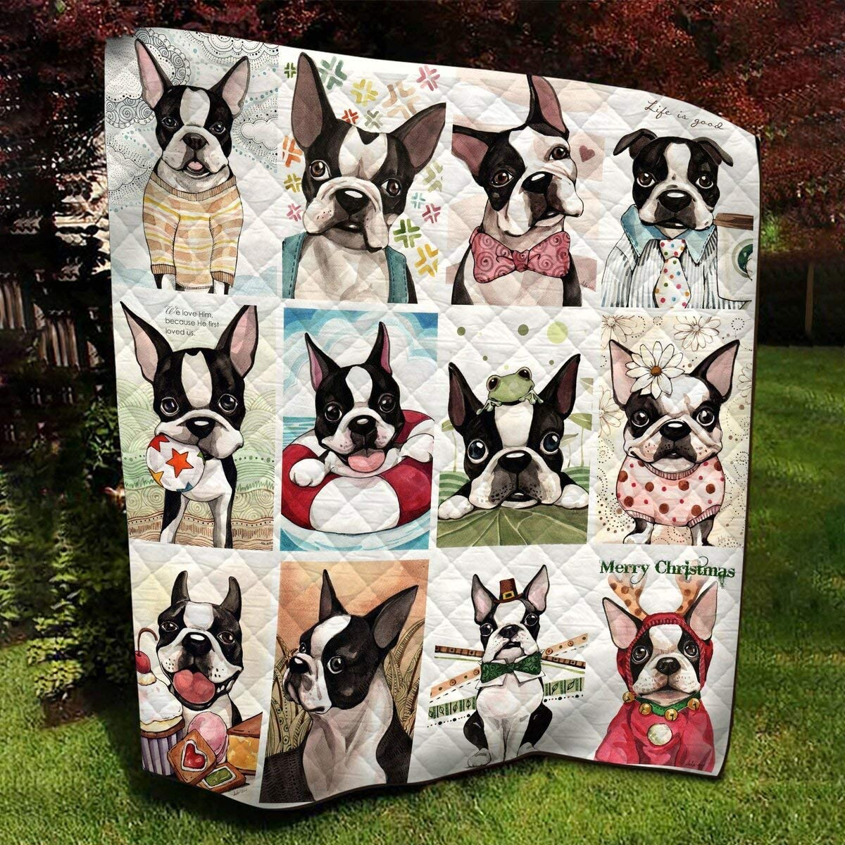 Max 88% OFF Personalized French Bulldog Collage Quilt - Dog The Life Superlatite in of