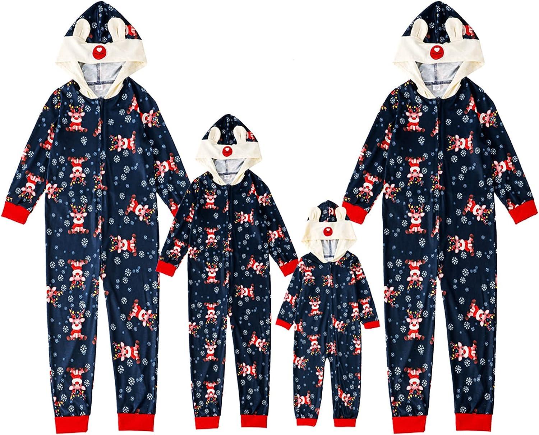 KOPLTYRFG Family Gifts shopping Matching Christmas Reindeer Onesies Pajamas Set
