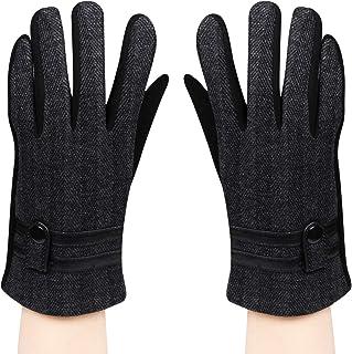 Bongio Mens designer Gloves-Black
