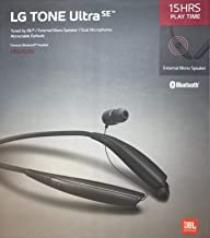 LG Tone Ultra Se Bluetooth Wireless Stereo Neckband Earbuds Tuned by JBL (HBS-835S) – Black
