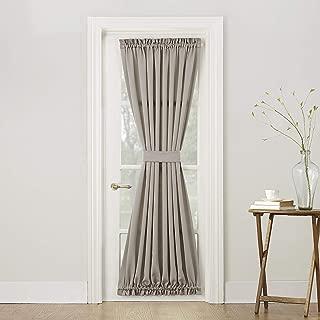 (Stone Beige, 140cm x 180cm Door Panel) - Sun Zero Barrow Energy Efficient Patio Door Curtain Panel, 140cm x 180cm , Stone Beige