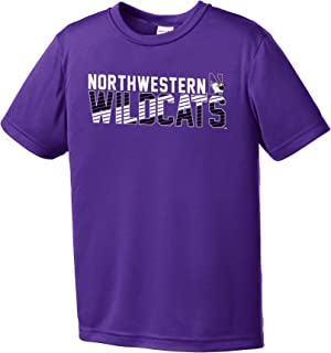 Image One Boys NCAA Diagonal Youth Short Sleeve Polyester Competitor T-Shirt, Purple, S
