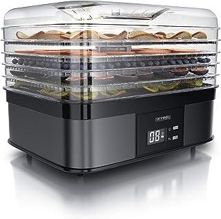 Arendo – Déshydrateur alimentaire avec contrôle de température 350 W - Déshydrateur en Inox pour viande fruits légumes - M...