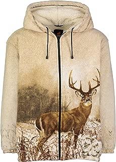 Men Women's Hoodie Sweatshirt Zip up Sherpa Lined Fleece Animal Jacket Wildkind