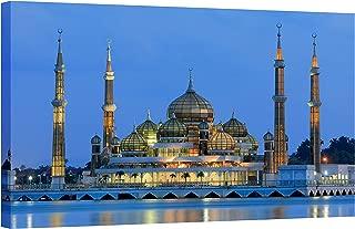 IslamicArtPoint Crystal Mosque Malaysia on Canvas/Islamic Wall Art (46x30'')