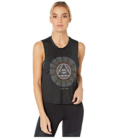 Spiritual Gangster Active Crop Tank (Seeing Black) Women