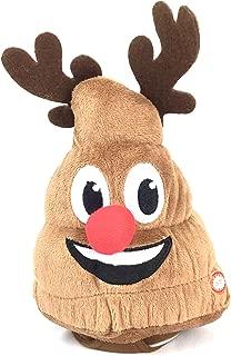 Animated Poop Christmas Plush Toy Dances Plays Jingle Bells (Reindeer Poop)