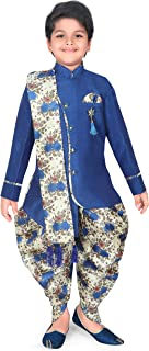 AHHAAAA Kids Sherwani Printed Dhoti Pant with Dupatta - Indo Western Ethnic wear for Kids and Boys from