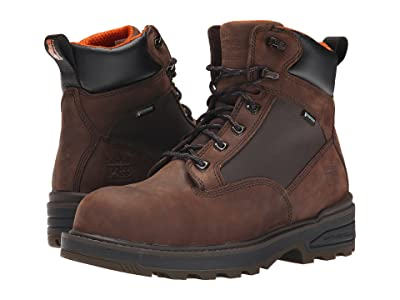 Timberland PRO 6 Resistor Composite Safety Toe Waterproof Boot (Brown) Men